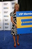 Jessica Simpson at a press conference to announce Blockbuster Video's