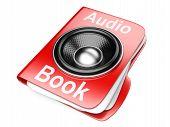 3D Folder With Speaker. Audio-book Concept