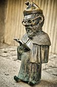 stock photo of gnome  - a gnome statue in a wroclaw poland - JPG