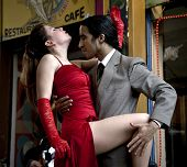 Buenos Aires - July 9: A Pair Of Tango Dancers Perform On July 9, 2011 In San Telmo In Buenos Aires,