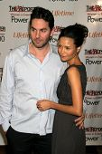 LOS ANGELES - DECEMBER 05: Thandie Newton and Ol Parker at the 15th Annual The Hollywood Reporter's