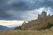 stock photo of apennines  - amazing castle view in rocca calascio village