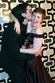 Adam Driver, Lena Dunham at HBO's Official Golden Globe Award After Party, Beverly Hilton Hotel, Beverly Hills, CA 01-13-13