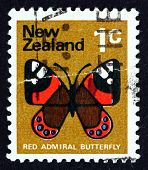 Postage Stamp New Zealand 1970 Red Admiral Butterfly
