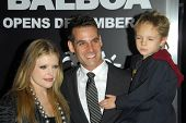 HOLLYWOOD - DECEMBER 13: Natalie Maines and Adrian Pasdar with son Jackson at the world premiere of