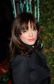 Rose McGowan Holiday Window Lighting to benefit the Kanye West Foundation Loop Dreams Program, Stell