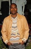 Kanye West at Holiday Window Lighting to benefit the Kanye West Foundation Loop Dreams Program, Stel