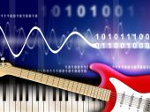 image of musical instruments  - Musical instruments and digital music editing - JPG