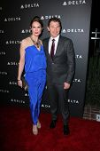 Stephanie March, Bobby Flay at Delta Airline's Celebration of LA's Music Industry, Getty House, Los