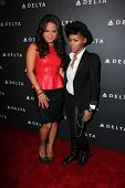 Christina Milian, Janelle Monae at Delta Airline's Celebration of LA's Music Industry, Getty House,