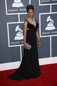 MC Lyte at the 55th Annual GRAMMY Awards, Staples Center, Los Angeles, CA 02-10-13