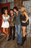 WEST HOLLYWOOD - JULY 30: Susie Sprague and Corey Feldman With Billy Worth and friend at Corey Feldman's Birthday Party at House of Blues July 30, 2006 in West Hollywood, CA