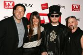 HOLLYWOOD - AUGUST 27: Greg Grunberg and Missy Peregrym with Ben Moody and Michael Fish Herring at t