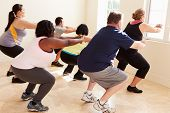 picture of boot camp  - Fitness Instructor In Exercise Class For Overweight People - JPG