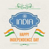 stock photo of indian independence day  - Stylish poster - JPG