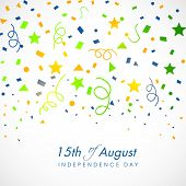 15th of August, Indian Independence Day celebrations greeting card design.