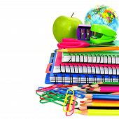 Group of school supplies