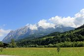 Swiss Alps summer landscape