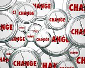 Change word clocks passing evolution innovation alter, update improve your life, job  career