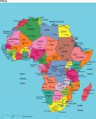 Africa with Editable Countries and Names