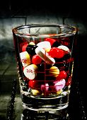 Pill In The Glass