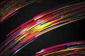 Rainbow straight Diagonal Line Glow split three section Dark Background