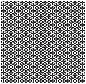 Floral B&W pattern. Fine seamless texture with flower shape motif.