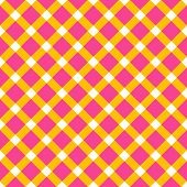 Plaid fabric background with yellow and pink. Abstract seamless vector pattern.