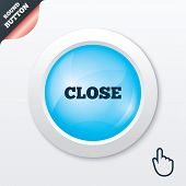 Close sign icon. Cancel symbol.