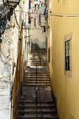 Flight Of Steps In Alfama, Lisbon (portugal)