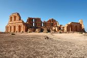 picture of libya  - Roman theater the ancient city of Sabratha Libya - JPG
