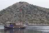 Sailboats And Mountain