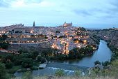 Old Town Of Toledo At Dusk, Spain