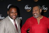 LOS ANGELES - JUL 15:  Anthony Anderson, Laurence Fishburne at the ABC July 2014 TCA at Beverly Hilt