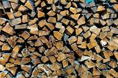 stack firewood, background