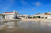 picture of lagos  - fountain at square Infante Dom Henrique at Lagos Algarve Portugal - JPG