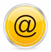 E-mail Yellow Circle Icon
