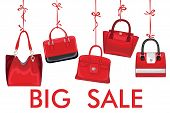 Red Fashion Women's Handbag Hang On Ribbon.big Sale