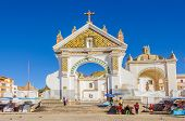 COPACABANA, BOLIVIA, MAY 6, 2014 - Basilica of Our Lady of Copacabana, patron saint of Bolivia.