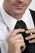 Close-up Of Man With Tie