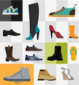 Various types of footware for man and women