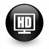 hd display black glossy internet icon