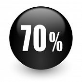 70 percent black glossy internet icon