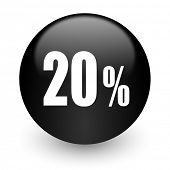 20 percent black glossy internet icon