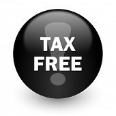 tax free black glossy internet icon