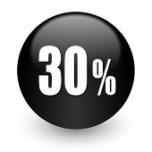 30 percent black glossy internet icon