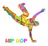 abstract hip-hop dancer