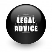 legal advice black glossy internet icon