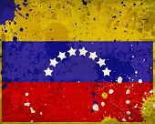 Grunge Venezuela Flag With Stains