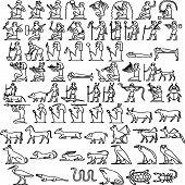 picture of hieroglyphic  - Egyptian hieroglyphs  - JPG